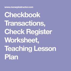 Checking Unit With Lesson Plans  CheckingunitlessonplansPdf