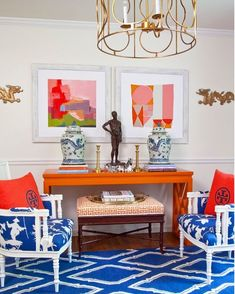 Design Crush: Parker Kennedy Living - The Glam Pad - When it comes to Palm Beach Chic decor, it simply does not get any better than Parker Kennedy Livin - Decor, Beach Chic Decor, Blue Rooms, Parker Kennedy Living, House Styles, Chic Decor, Palm Beach Decor, Home Decor, Interior Design