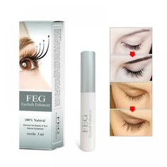 595326ff60c FEG Eyelash Enhancer 100% Original FEG Eyelash Growth Treatment Eyelash  Enhancer Serum Eyelash Liquid Makeup Beauty Eyes Curling