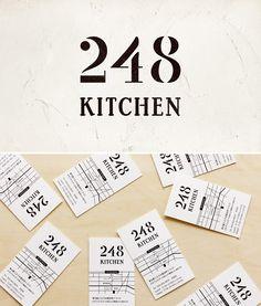 248 KITCHEN - LOGO 西八王子のイタリアンレストラン ロゴ制作 - ALNICO DESIGN アルニコデザイン