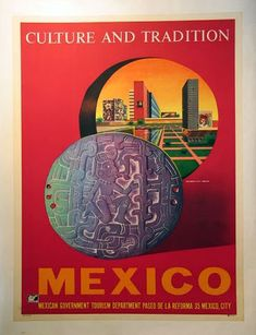 Travel Vintage #Mexico Culture Traditions Poster