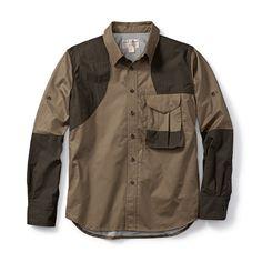 Filson Front Loading Shooting Shirt RH Tan w/ Olive 2XL 10525