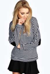 Stripe With Heart Elbow Patch