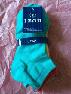 IZOD Lady Polyester Socks New With Tag Multi Colors 6 Pair #IZOD #Athletic