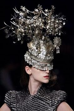 Philip Treacy for Alexander McQueen. Collection in honor of Isabella Blow.