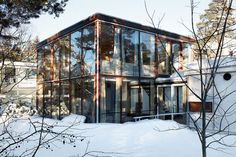 Style of mid-century minimalist, the text is in Norwegian so am not real sure. but I think Arne Korsmo is the Architect of Grete Prytz Kittelsen's Home Oslo, Window Films, Mid Century House, Beautiful Buildings, Beautiful Places, Glass House, Mid Century Design, Luxury Real Estate, My Dream Home