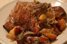 Foto de la receta de chuletas de cerdo con patatas al horno