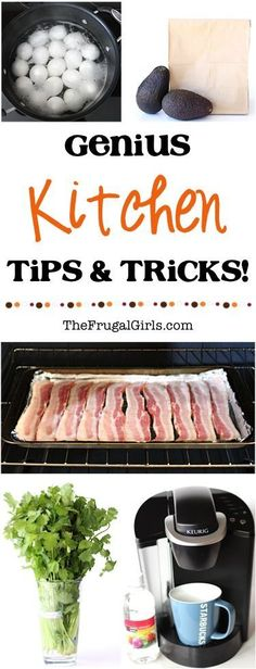 Genius Kitchen Tips and Tricks! ~ from TheFrugalGirls.com ~ look absolutely…