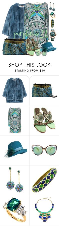 """""""FUR COAT AND BAG"""" by purplerose27 ❤ liked on Polyvore featuring Marni, Etro, Emilio Pucci, Giuseppe Zanotti, Overland Sheepskin Co., Erdem, House of Lavande, Trina Turk, Chopard and women's clothing"""