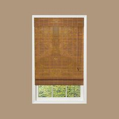 designview Bamboo Sedona Roman Shade (Price Varies by Size)-0213105 at The Home Depot
