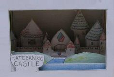 "Tatebanko Castle Paper Model - by Storm The Castle    In this website you will find everything you need to make a paper castle diorama. Easy and fun to build project for kids! Storm the Castle says: - ""Tatebanko is the Japanese art of making dioramas out of paper. Typically the diorama is housed inside a paper box and portrays some kind of scene."""