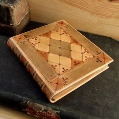 Etsy Transaction - RESERVED: Leather Journal / Blank Book, Natural Brown Leather, Tooled Decoration - Morning Romance