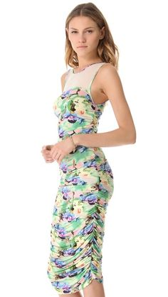 Catherine Malandrino Ruched Tank Dress.