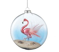 Flamingo Disk Ornament