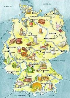 Germany food map