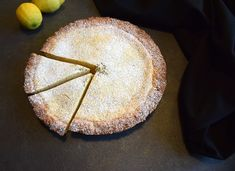 This lemony tarte is just heavenly creamy! Add some thyme for extra flavour - you'll love it, I promise! Delicious Cake Recipes, Yummy Cakes, Ricotta, Heavenly, Lemon, Bread, Easy, Desserts, Food