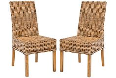 Brown Dayton Side Chairs, Pair on OneKingsLane.com
