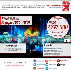 Tour 3 Hari 2 Malam USS + WOT mulai dari Rp 2.742.000/Malam,Yuk Pesan ! ;) #promo   #tour   #singapore   #travel