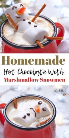 How To Make Creative Homemade Hot Chocolate For Wonderful Winter Fun! Chocolate Crafts, Homemade Hot Chocolate, Hot Chocolate Bars, Hot Chocolate Recipes, Chocolate Flavors, Hot Chocolate And Marshmallows, Fall Recipes, Holiday Recipes, Drink Recipes