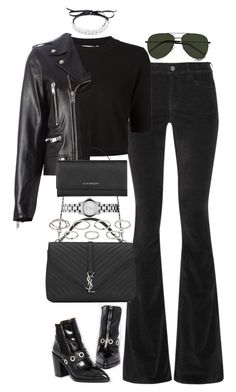 """""""Untitled #3687"""" by lily-tubman ❤ liked on Polyvore featuring M.i.h Jeans, ASOS, Jonathan Simkhai, Fallon, Yves Saint Laurent, Akira, Marc by Marc Jacobs and Givenchy"""