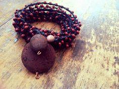 Lava You: Versatile crocheted necklace / bracelet / by FleasKnees