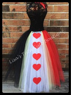 Full length Queen of Hearts inspired tutu dress. by LisasTutus, $28.00