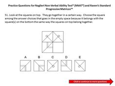 Practice questions for the Naglieri Nonverbal Ability Test (NNAT) 3rd grade to 4th grade