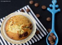 chocolate chip muffins im bakery style / muffins wie vom bäcker Chocolate Chip Muffins, Bakery, Pie, Ice Cream, Favorite Recipes, Dinner, Breakfast, Desserts, Food