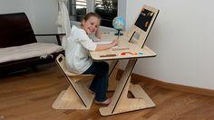 Потрясающий авторский стол-трансформер AZdesk ‒ уникальное решение для детской мебели от Гийома Буве