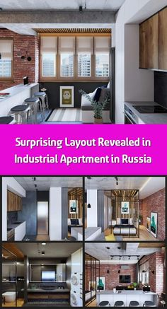Studio Geometrium completed the design of an industrial apartment with a masculine feel in Kotelniki, Russia. This space was specially adapted to meet the n Industrial Apartment, Glass Partition, Concrete Slab, Step Inside, Columns, Living Area, Russia, Healthy Living, Middle