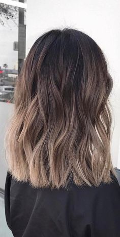 35 hot ombre hair color trends for women in 2019 - VimDecor - hair - . - 35 hot ombre hair color trends for women in 2019 – vimdecor – hair – - Brown Shoulder Length Hair, Shoulder Length Hair Balayage, Medium Length Ombre Hair, Shoulder Length Haircuts, Medium Dark Hair, Shoulder Haircut, Hair Color Balayage, Hair Highlights, Ash Balayage