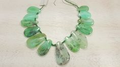 Genuine And Natural Australian Chrysoprase Top drilled Freeform Shaped Beads 119 Grams by BeadSeen on Etsy