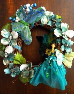 doll fairy wreath crafts - Google Search