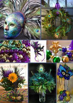 Mardi Grass - Peacock theme from http://blog.inspirationbug.com/2012/01/30/party-peacock-inspired-mardi-gras/