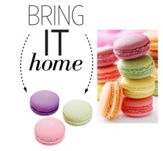 """Bring It Home: Ladurée Macarons Eraser Set"" by polyvore-editorial ❤ liked on Polyvore featuring interior, interiors, interior design, home, home decor, interior decorating, Ladurée and bringithome"