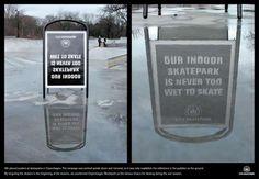 La campagna pubblicitaria della pista di pattinaggio di Copenhagen