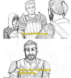 Dragon Age and Parks and Rec Dragon Age Memes, Dragon Age Funny, Dragon Age 2, Dragon Age Origins, Dragon Age Inquisition, Dragon Age Comics, Dragon Age Alistair, Witty One Liners, Grey Warden