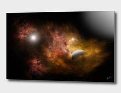 Découvrez «Cosmic clouds», Édition Limitée Oeuvres sur Aluminium par Alain…