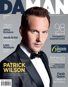 The latest issue of DAMAN sure stopped me in my tracks when I saw it in the window of a magazine shop in the West Village. Patrick Wilson, Beautiful Boys, Gorgeous Men, Magazine Cover Page, Magazine Shop, Lead Men, Vera Farmiga, Weak In The Knees, The Fashionisto