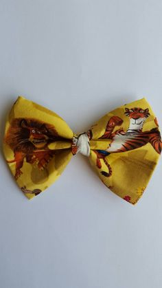 #bowties #hairbows #petbowties #madagascar Hey, I found this really awesome Etsy listing at https://www.etsy.com/listing/236035538/madagascar-inspired-hair-bow-boys-bow