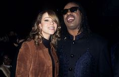 Mariah Carey and Stevie Wonder attending the 11th Annual Rock and Roll Hall of Fame Induction Dinner