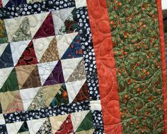 Queen Patchwork Quilt Colorful by EggMoneyQuilts on Etsy