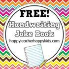 Handwriting Joke Book - Looking for a fun way to enliven your handwriting practice? Check out these 20 corny, kid-approved jokes. Each page features letters to trace . Free Handwriting, Improve Your Handwriting, Handwriting Practice, Teaching Handwriting, 1st Grade Writing, Work On Writing, Hand Writing, Too Cool For School, School Fun