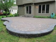 Here are some FINISHED PAVER PATIO