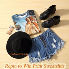 #REPINTOWIN the print sweatshirt and mysterious gift<<<< How to win:1、repin the post 2、comment below the giveaway 【big news】the sweatshirt will be $17.99 on 31st July,join the contest or buy it on 31st ,You will have chance to get mysterious gift<<<<