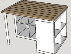 Central Island, Ikea Design, Ikea Hackers, Word Design, Ikea Furniture, Diy Table, Wood, Home Decor, Brown Things
