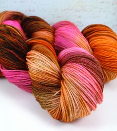 Cozy Toes in Hot Damn Hand Dyed Sock Yarn Fingering by LushMommy, $26.00