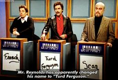 """When Burt Reynolds gave himself this clever title.   21 Times """"SNL's"""" Celebrity Jeopardy Was Hilariously Perfect"""