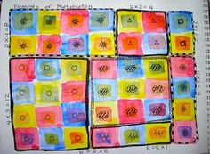 Multiplication and Art - I'm always looking for ways to incorporate math and art! Nice!