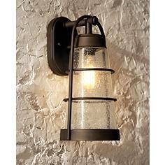 "Franklin Iron Works™ 14 3/4"" High Bronze Outdoor Wall Light"